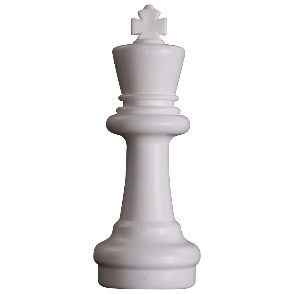 MegaChess 12 Inch Light Plastic King Giant Chess Piece |  | GiantChessUSA