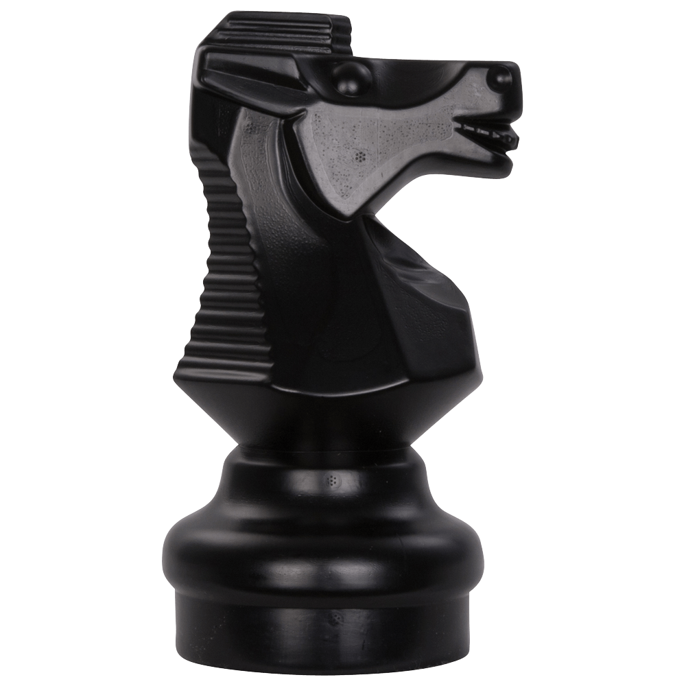 MegaChess 9 Inch Dark Plastic Knight Giant Chess Piece |  | GiantChessUSA