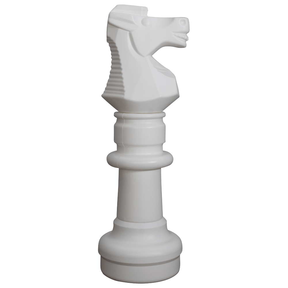 MegaChess 30 Inch White Plastic Knight Giant Chess Piece |  | GiantChessUSA