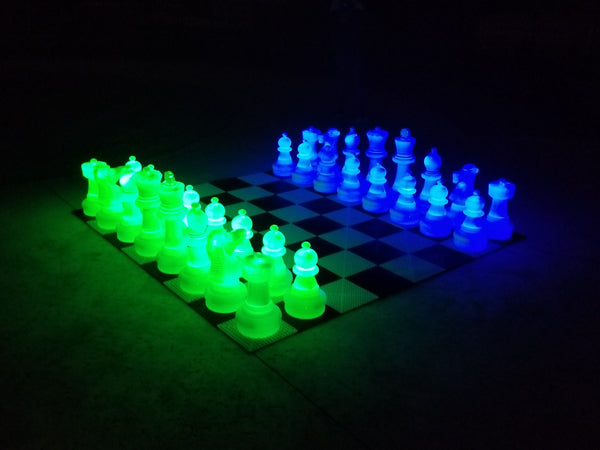 MegaChess 25 Inch Plastic LED Giant Chess Set - Multiple Colors Available! |  | GiantChessUSA
