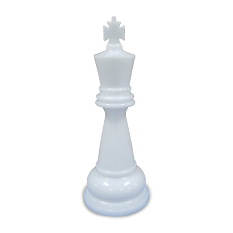 MegaChess 26 Inch White Premium Plastic King Giant Chess Piece |  | GiantChessUSA