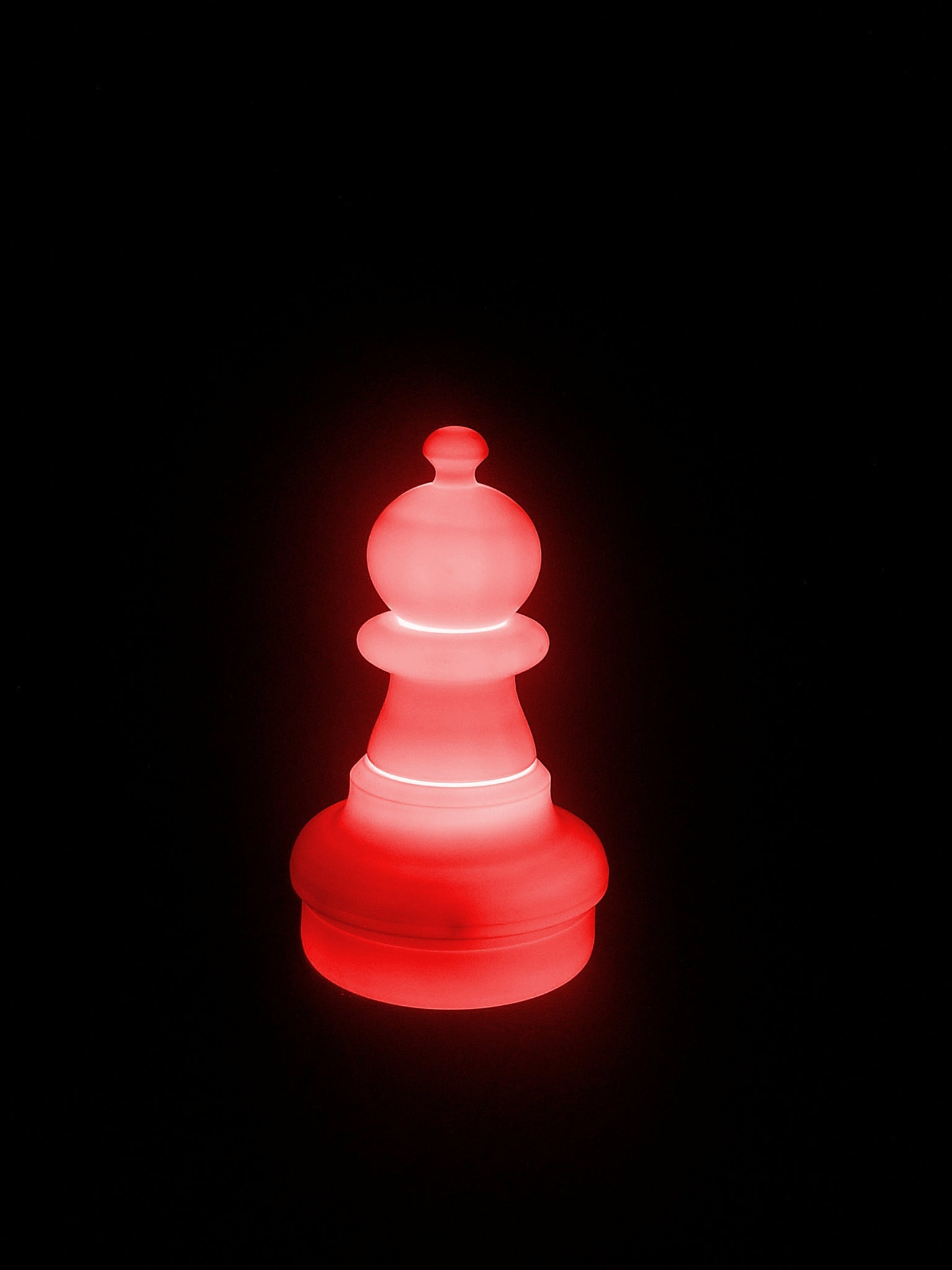 MegaChess 16 Inch LED Pawn Individual Plastic Chess Piece - Red |  | GiantChessUSA