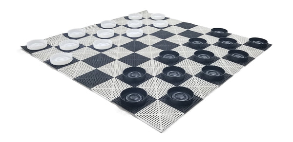 The Perfect Giant Checker Set | 10 Inches Wide | MegaChess |  | GiantChessUSA