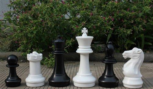 MegaChess 16 Inch Plastic Giant Chess Set with Nylon Mat |  | GiantChessUSA