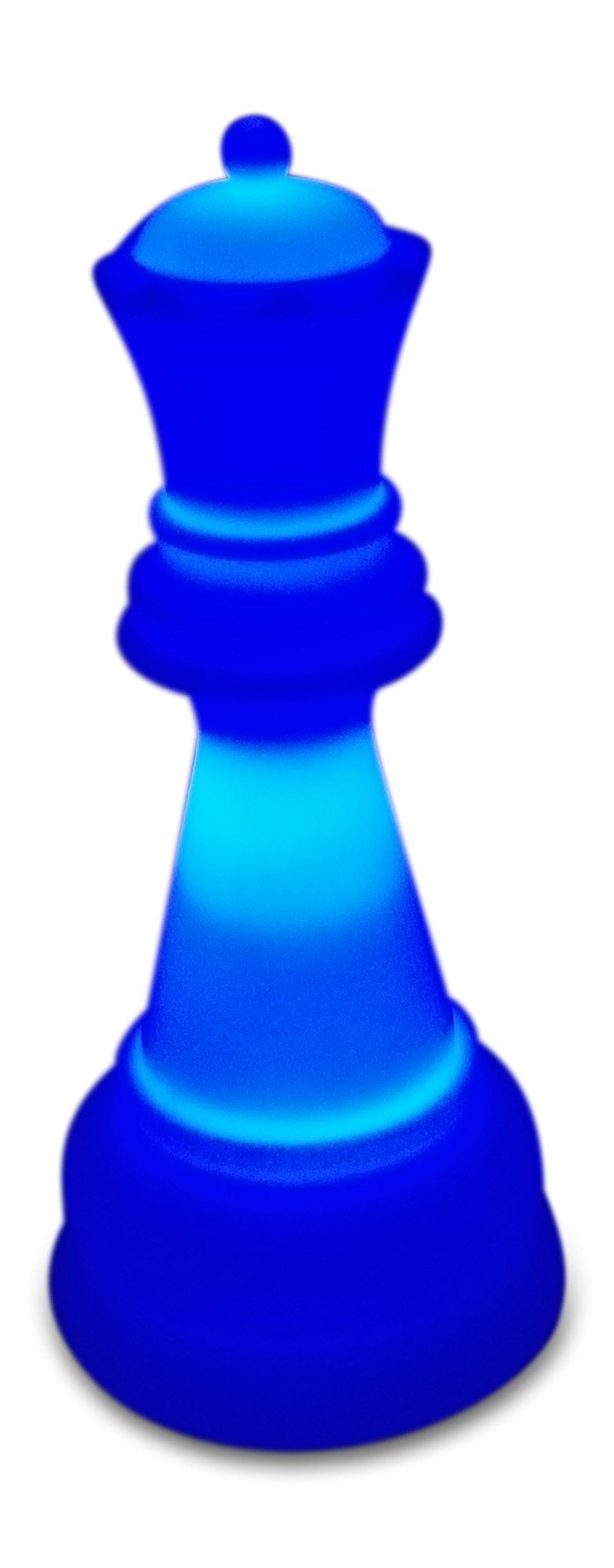 MegaChess 22 Inch Premium Plastic Queen Light-Up Giant Chess Piece - Blue |  | GiantChessUSA
