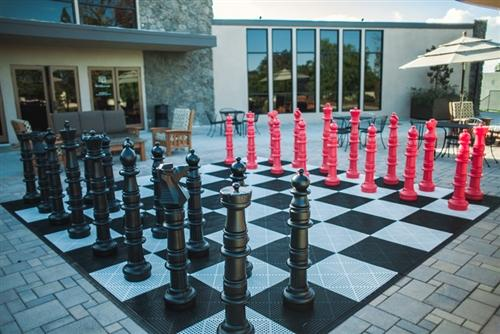 MegaChess Custom 49 Inch Plastic Giant Chess Set |  | GiantChessUSA