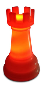 MegaChess 14 Inch Premium Plastic Rook Light-Up Giant Chess Piece - Red |  | GiantChessUSA