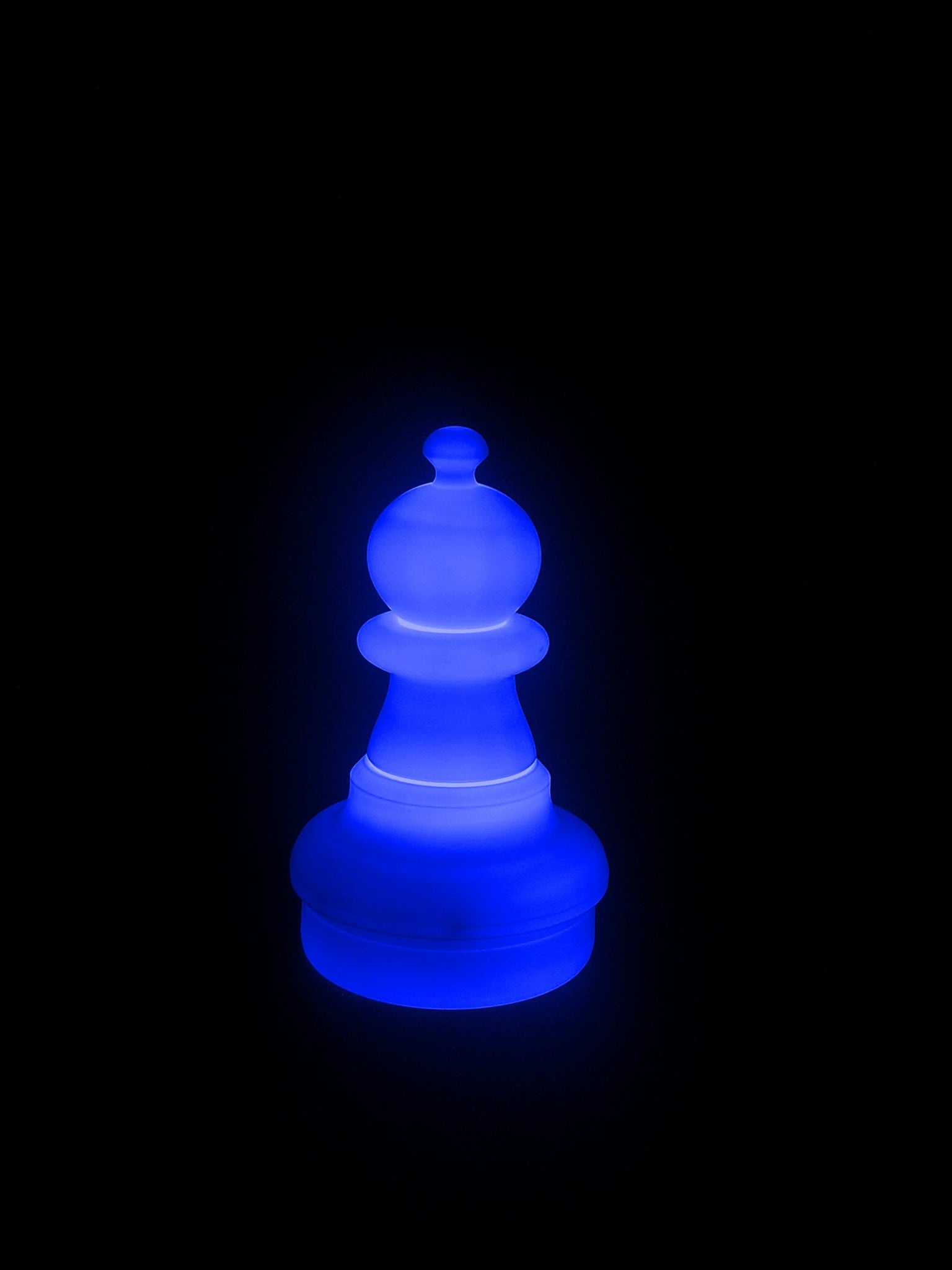 MegaChess 16 Inch LED Pawn Individual Plastic Chess Piece - Blue |  | GiantChessUSA