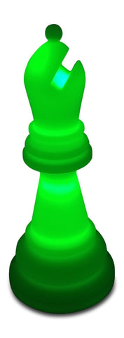 MegaChess 20 Inch Premium Plastic Bishop Light-Up Giant Chess Piece - Green |  | GiantChessUSA