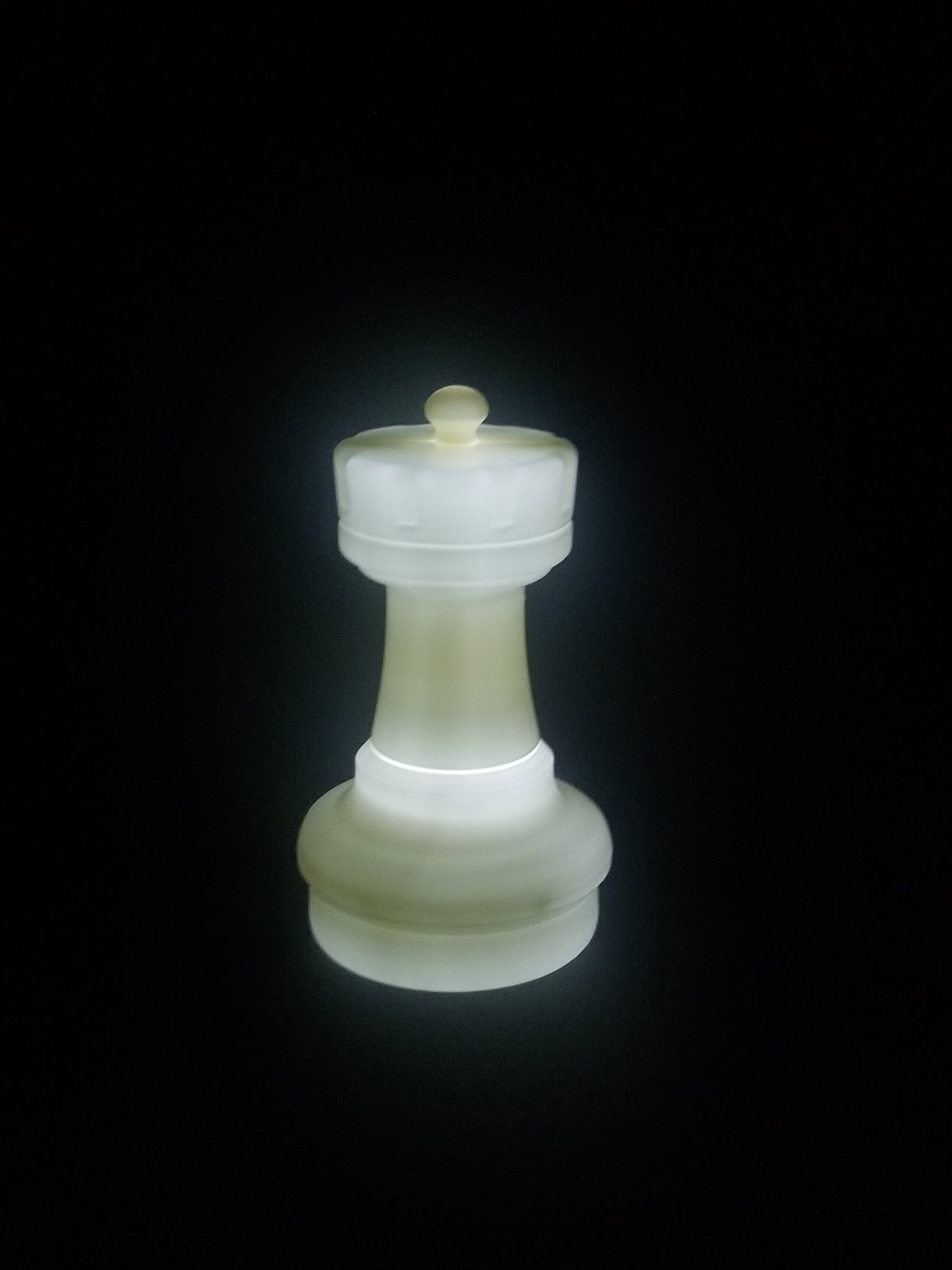 MegaChess 17 Inch LED Rook Individual Plastic Chess Piece - White |  | GiantChessUSA