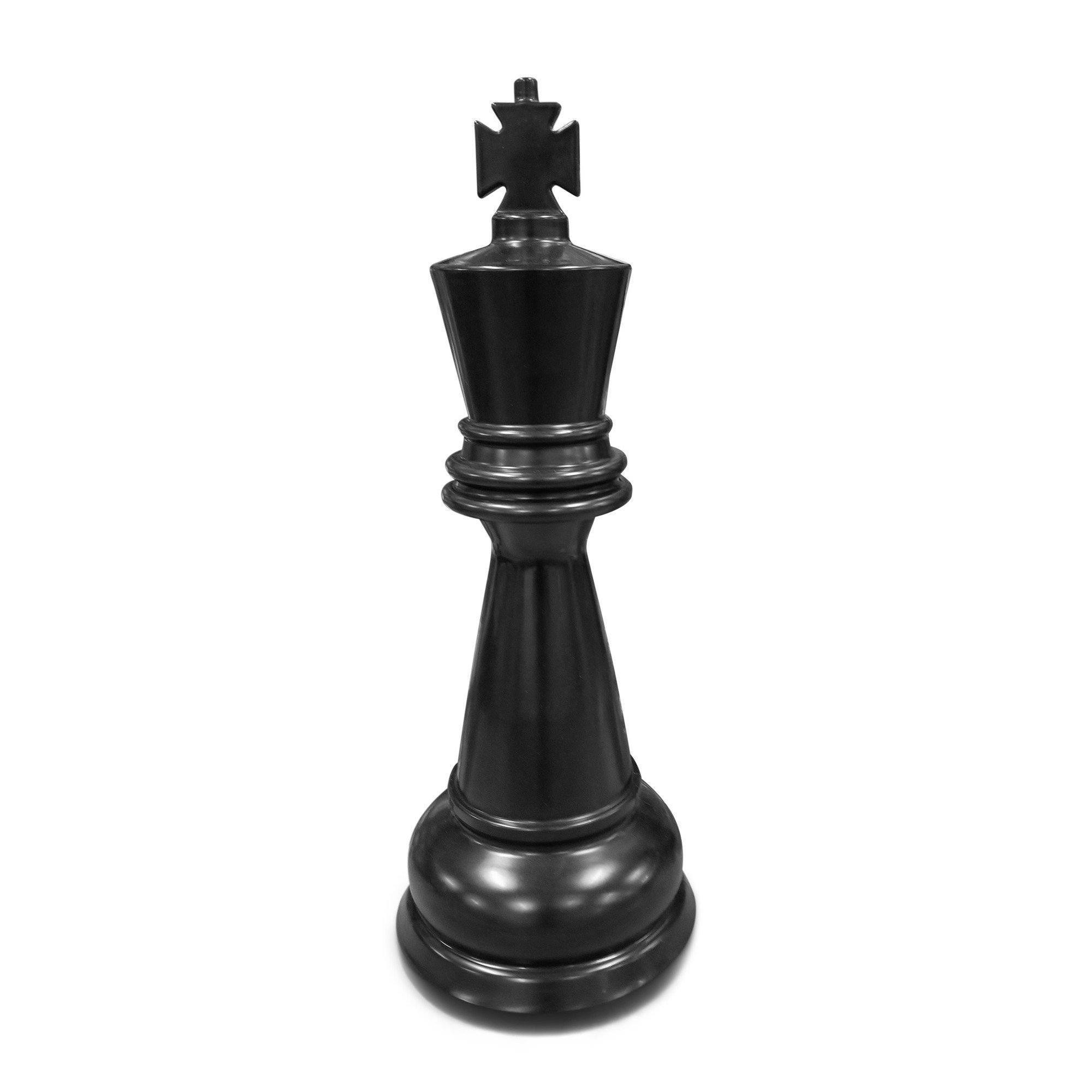 MegaChess 26 Inch Black Premium Plastic King Giant Chess Piece |  | GiantChessUSA