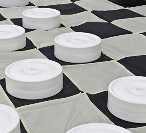 "Mega Checker Plastic Set 4"" Diameter with Chess Board 