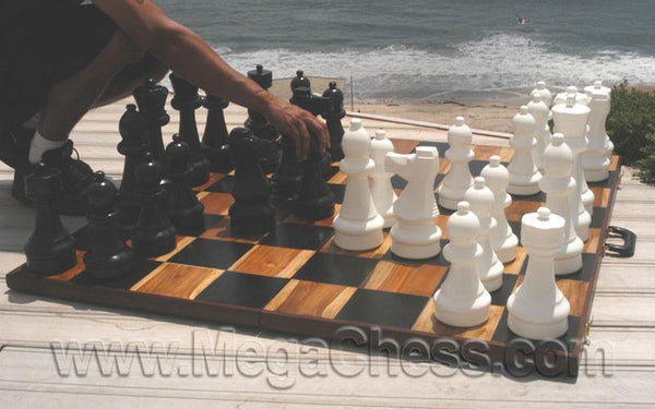 "Plastic Chess Set with 12"" King with Nylon Chess Board 