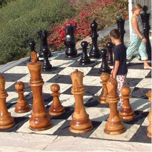 "MegaChess Quick Fold Nylon Giant Chess Mat With 24 Inch Squares - 15' 7"" x 15' 7"" 