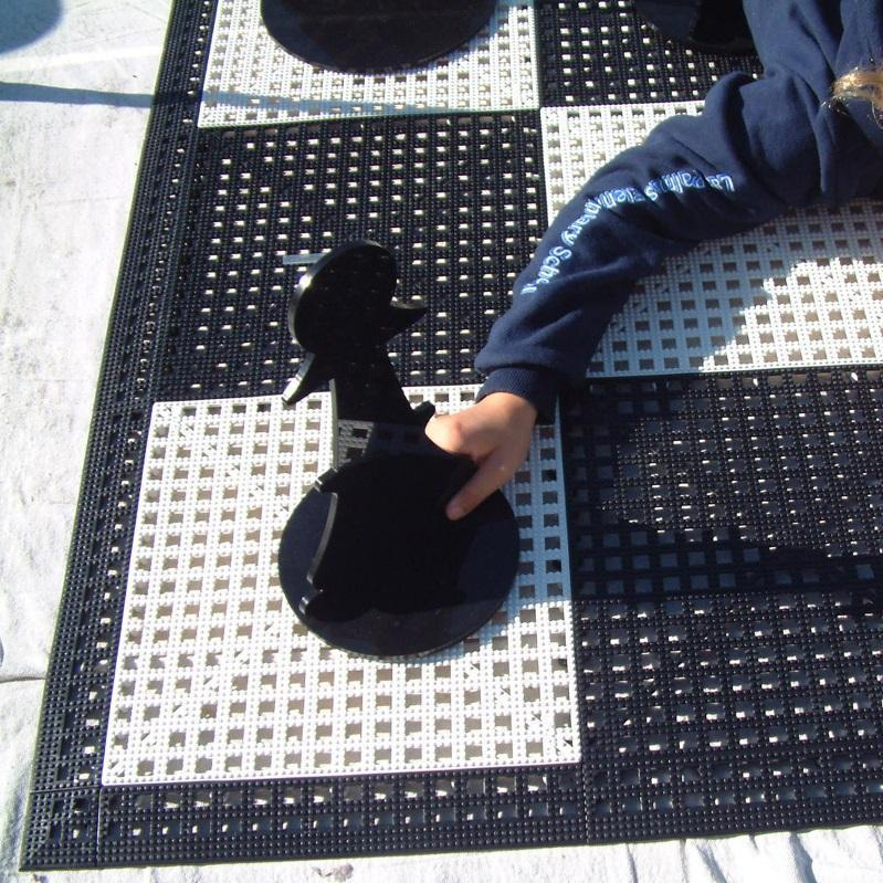 "MegaChess Safety Edge Ramps for Rubberized Vinyl 24"" Squares 