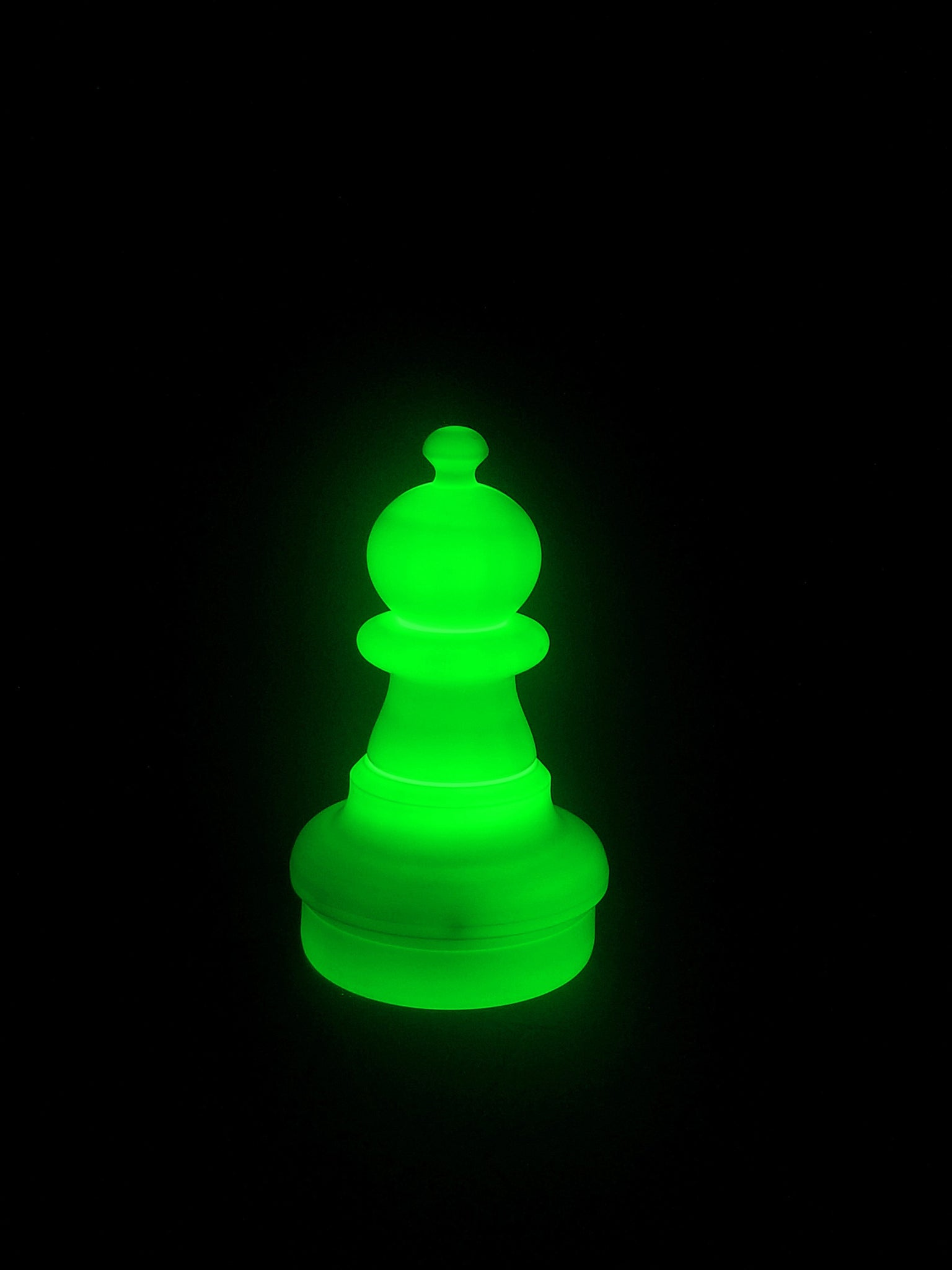 MegaChess 16 Inch LED Pawn Individual Plastic Chess Piece - Green |  | GiantChessUSA