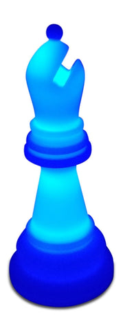 MegaChess 20 Inch Premium Plastic Bishop Light-Up Giant Chess Piece - Blue |  | GiantChessUSA