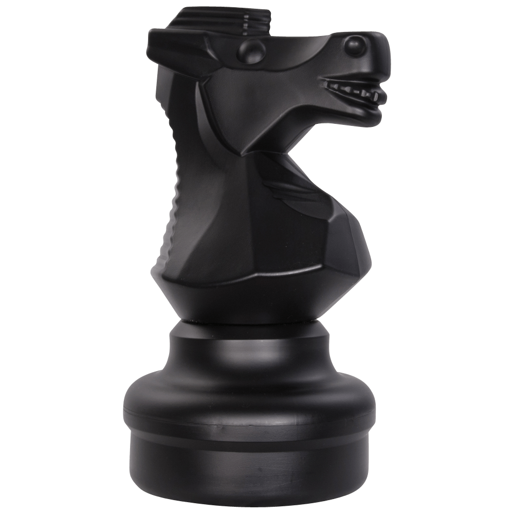 MegaChess 18 Inch Dark Plastic Knight Giant Chess Piece |  | GiantChessUSA