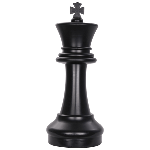 MegaChess 16 Inch Dark Plastic King Giant Chess Piece |  | GiantChessUSA
