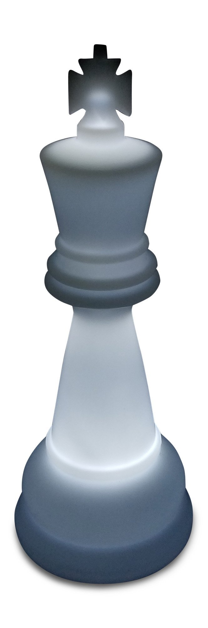 MegaChess 38 Inch Premium Plastic King Light-Up Giant Chess Piece - White | Default Title | GiantChessUSA
