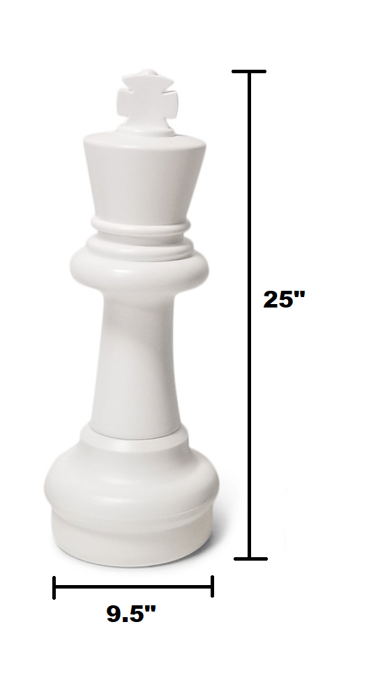 The Original MegaChess 25 Inch Plastic Giant Chess Set |  | GiantChessUSA