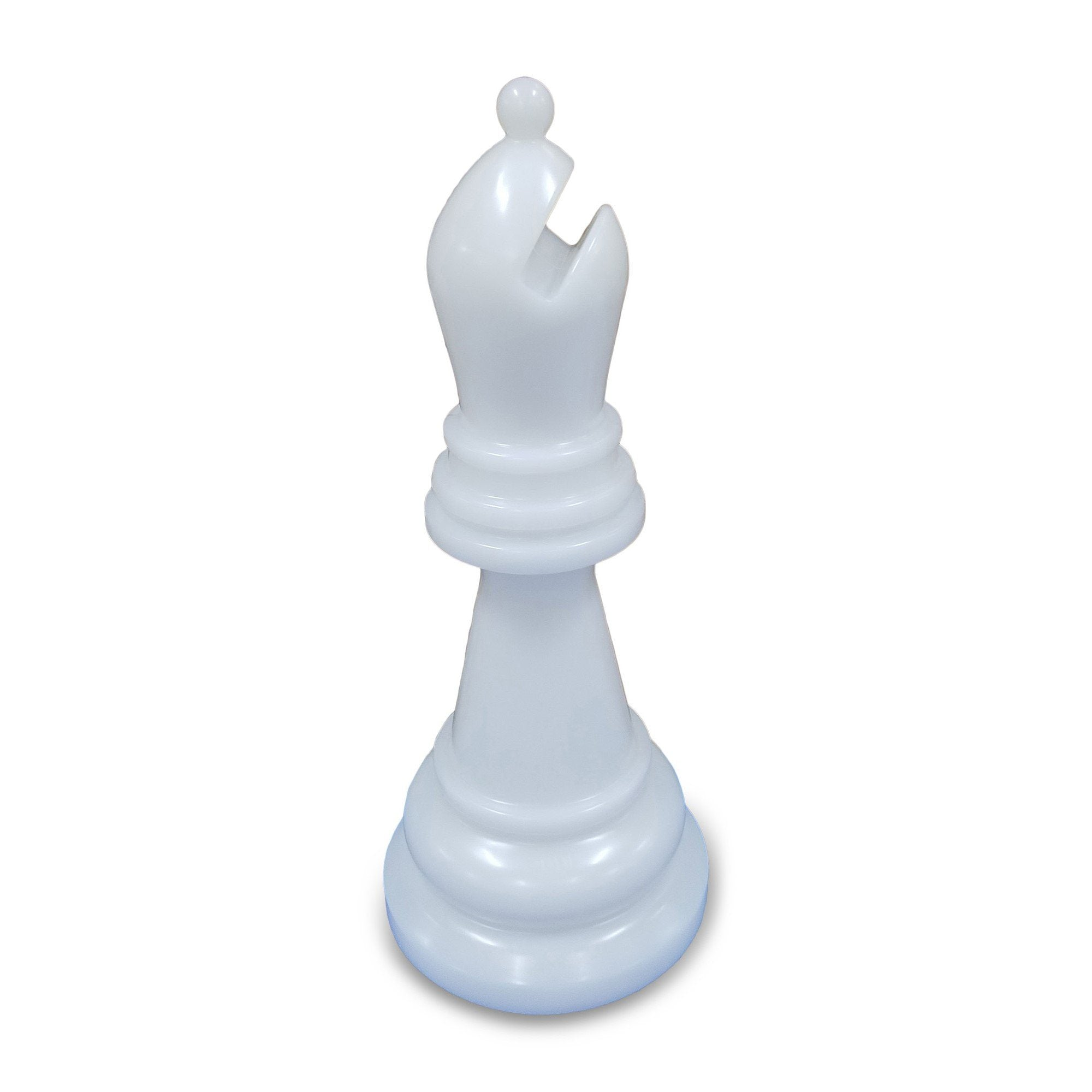 MegaChess 34 Inch White Premium Plastic Bishop Giant Chess Piece | Default Title | GiantChessUSA
