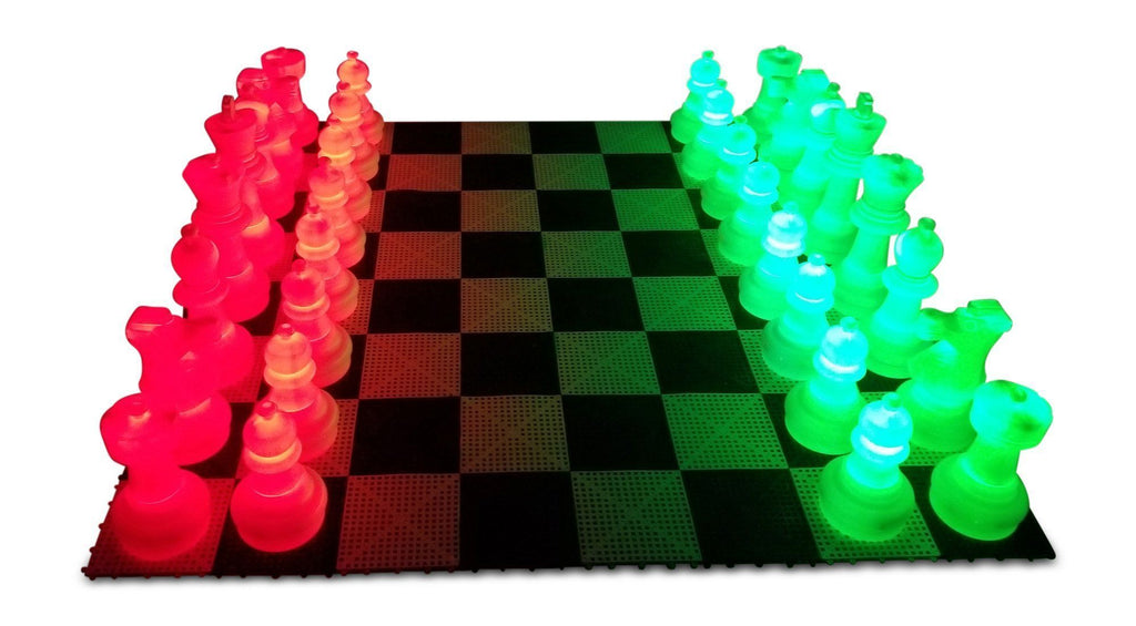 MegaChess 25 Inch Plastic LED Giant Chess Set with Day Time Pieces - Multiple Colors Available! |  | GiantChessUSA