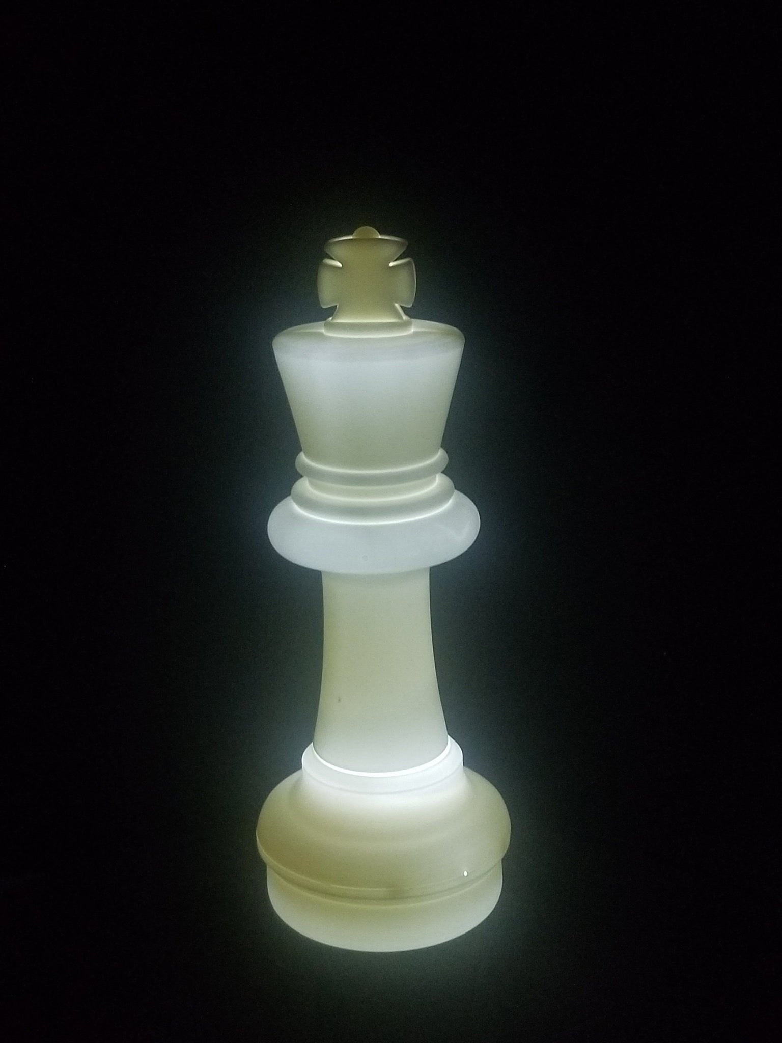 MegaChess 25 Inch LED King Individual Plastic Chess Piece - White |  | GiantChessUSA