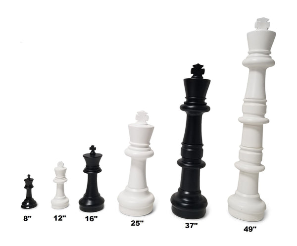 MegaChess 49 Inch Plastic Giant Chess Set with Nylon Mat |  | GiantChessUSA