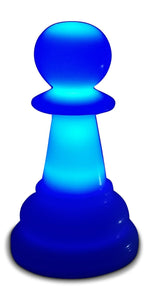 MegaChess 12 Inch Premium Plastic Pawn Light-Up Giant Chess Piece - Blue |  | GiantChessUSA
