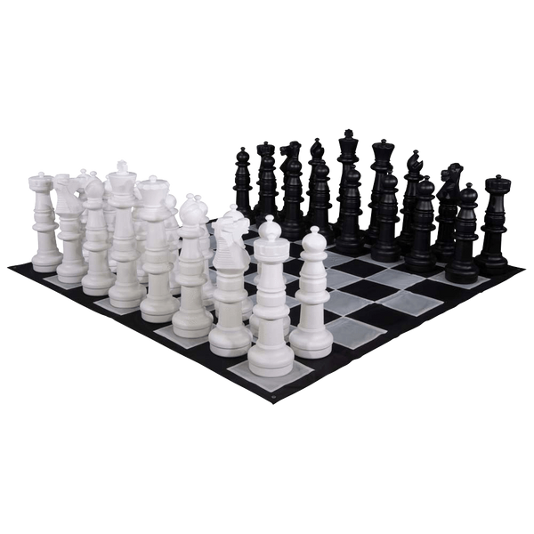 MegaChess 37 Inch Plastic Giant Chess Set with Nylon Mat | Default Title | GiantChessUSA