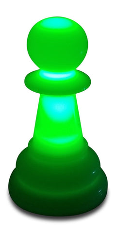 MegaChess 12 Inch Premium Plastic Pawn Light-Up Giant Chess Piece - Green |  | GiantChessUSA
