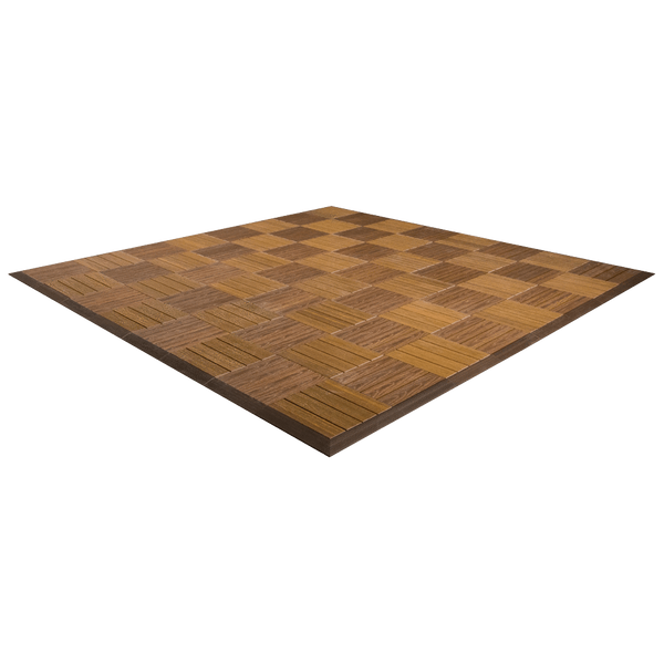 MegaChess Commercial Grade Synthetic Wood Giant Chess Board With 12 Inch Squares 8' x 8' Available ADA Compliant Safety Edge Ramps |  | GiantChessUSA