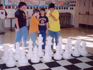 "Plastic Chess Set with 25"" King with Chessboard 