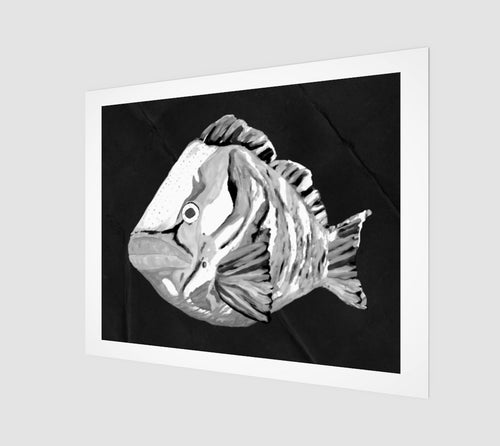 Ghost Grouper Art Print