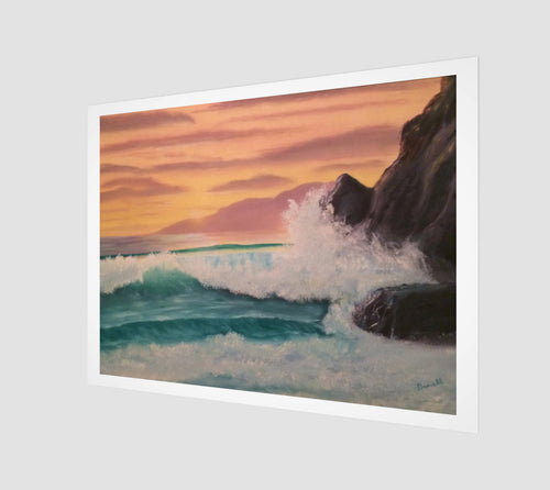 Sunset at Rocky Point fine art print