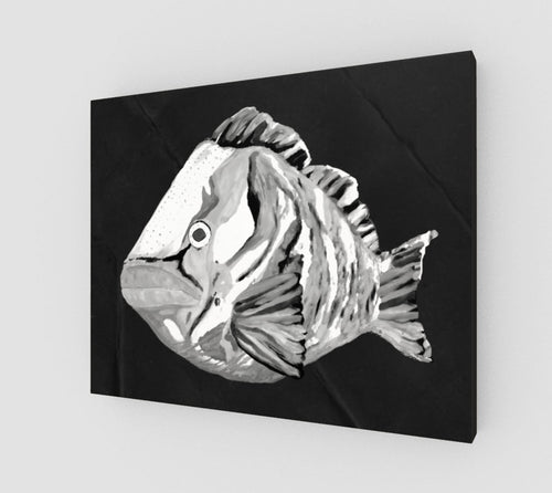 Ghost Grouper Art Print on Canvas