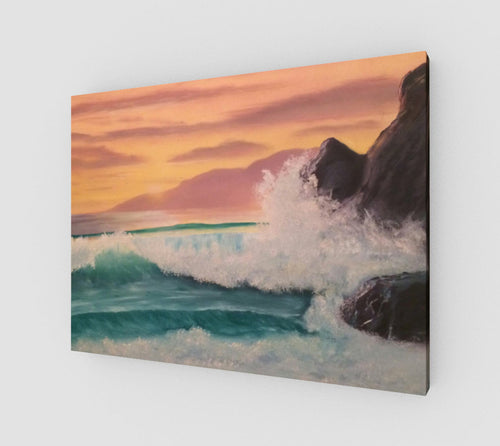Sunset at Rocky Point on Canvas