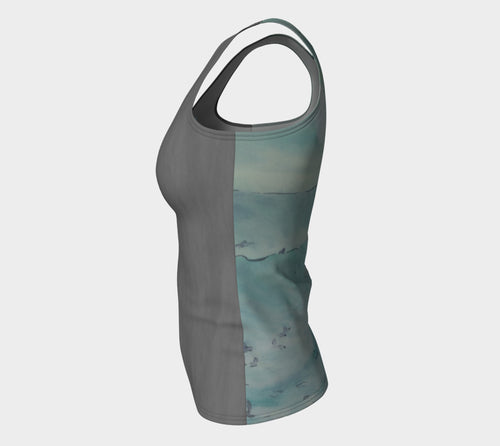 Grey Lines Surfer Active Tank