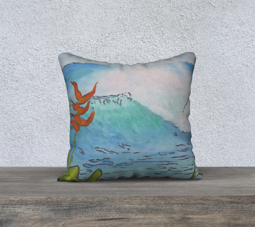 Paradise Luxury Pillow Cover 18x18
