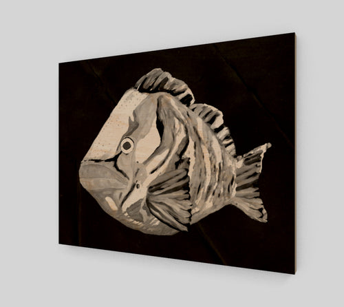 Red Grouper Art. Spearfishing, fishing