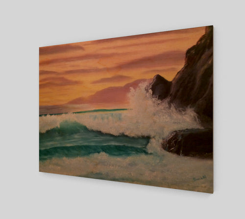 Sunset at Rocky Point Wood Print