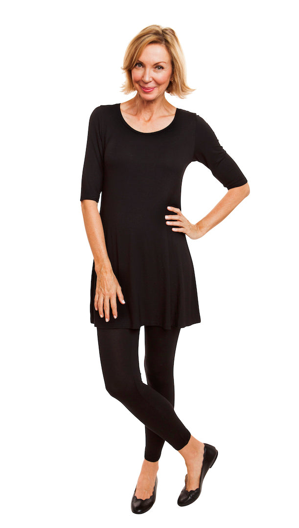 A-Line Elbow Sleeve Tunic