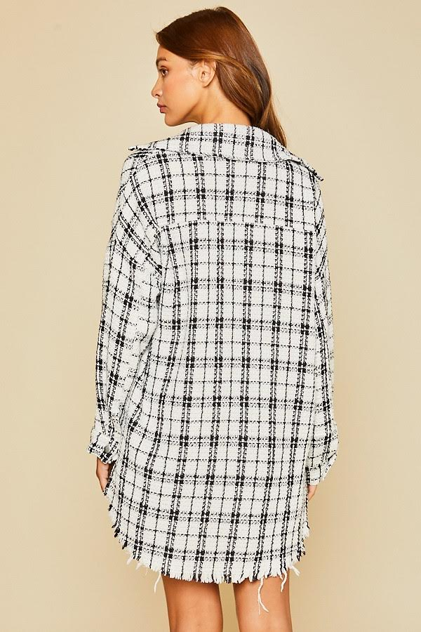 Alicia Oversized Plaid Top