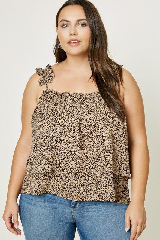 Leopard Pleated Tank