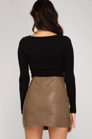 Katrina Faux Leather Skirt