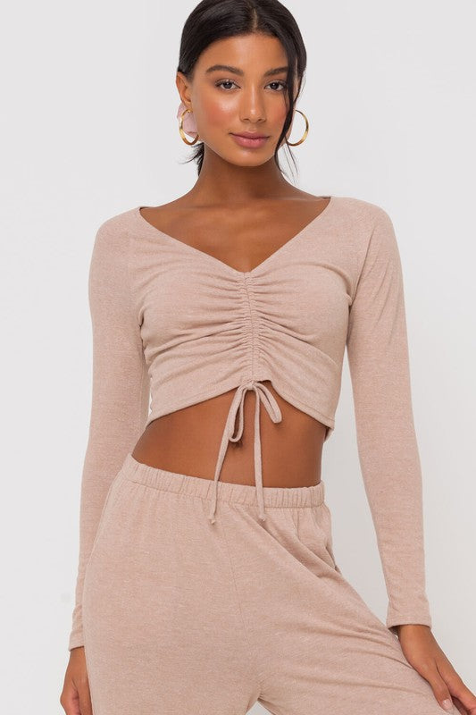 Dusty Pink Cinched Top
