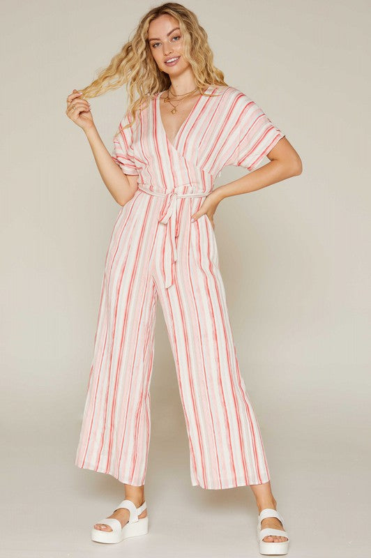 For The Love Stripe Jumpsuit
