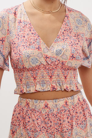Paisley Smocked Top