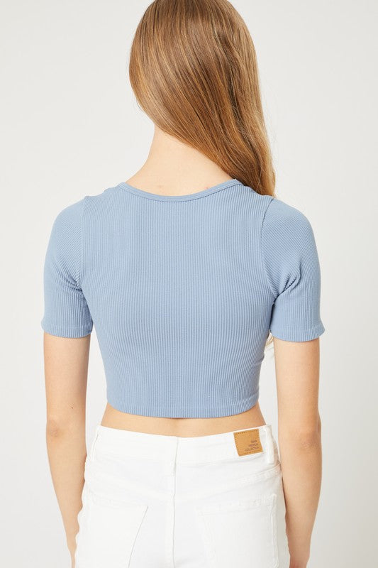 Cove Crop Top (Blue)